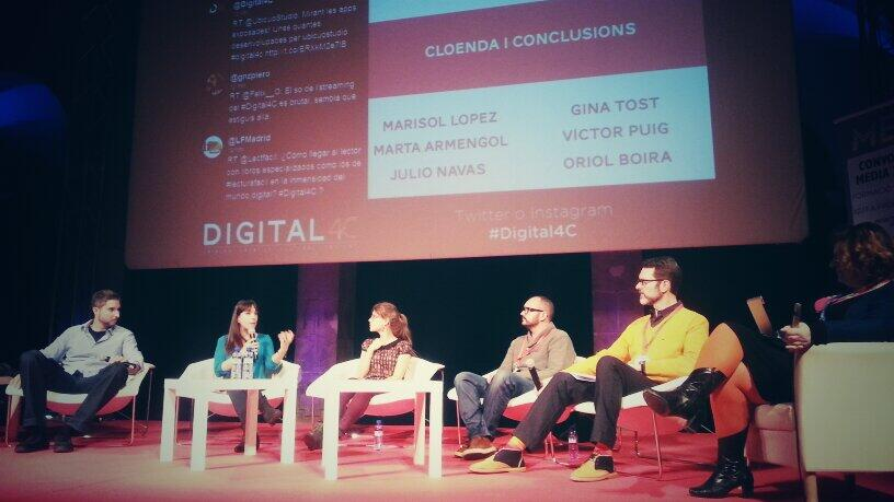 Mesa redonda de clausura de Digital4C foto de @jordisellas