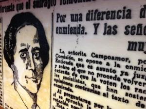 Detalle de la sala Clara Campoamor del Senado